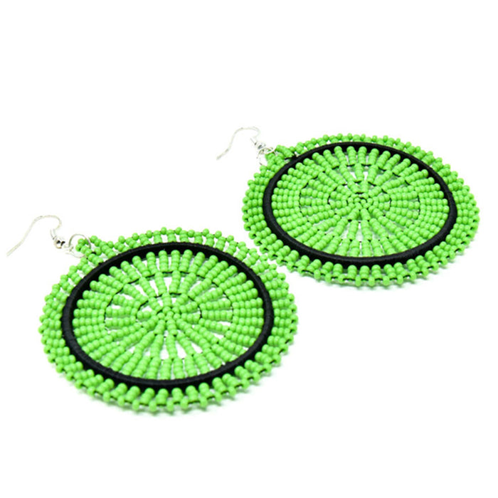 Duara Beaded Plain Earrings 05