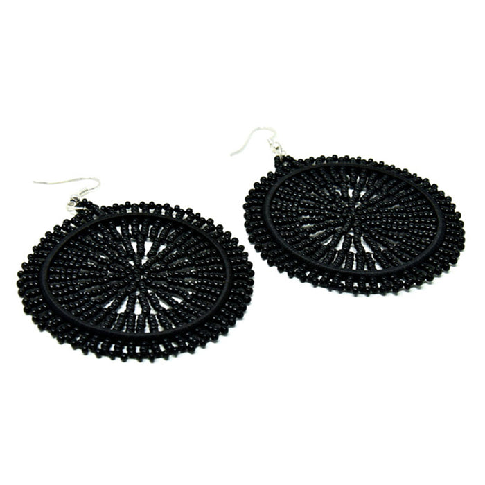 Duara Beaded Plain Earrings 07