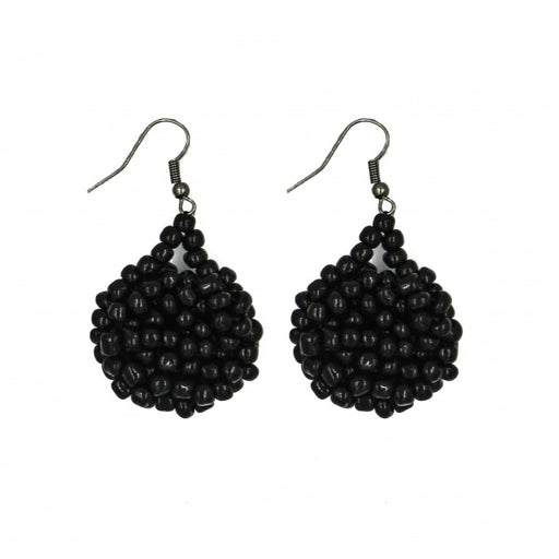 Kanule Beaded Earrings - Black
