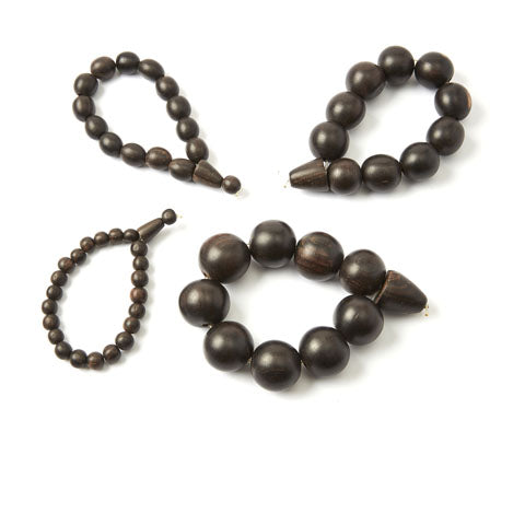 Ebony Wood Unisex Bracelets - Set of 4