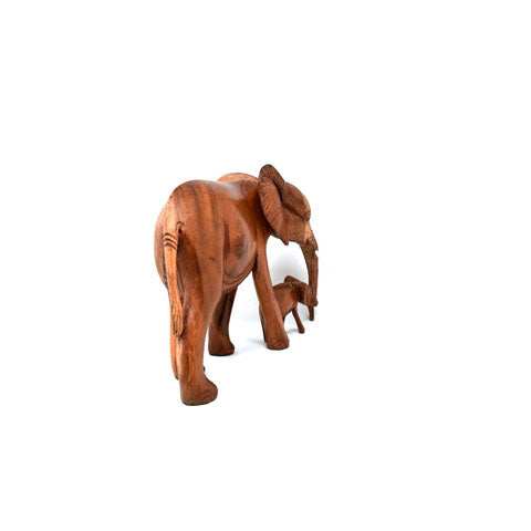 Elephant with Baby Sculpture 07