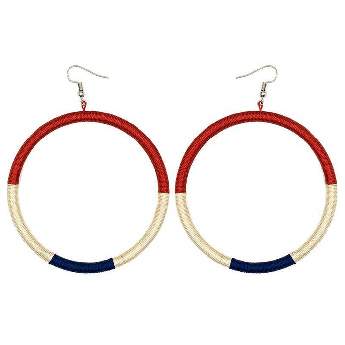 Hoop Embroidery Earrings 01