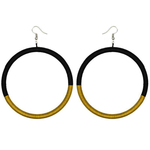Hoop Embroidery Earrings 02