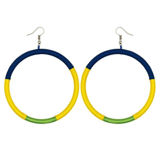 Hoop Embroidery Earrings 07