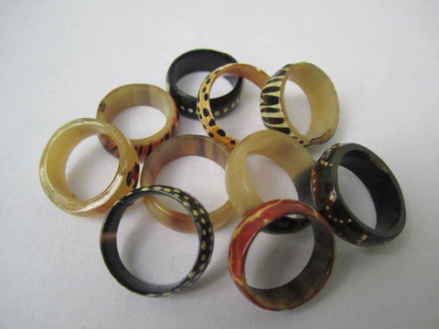 Round Small Horn Rings Assorted