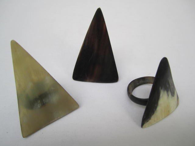 Triangle Horn Rings Assorted
