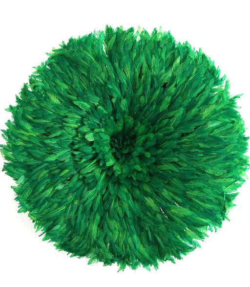 Juju Hat 17 Green (Bamileke Headdress)