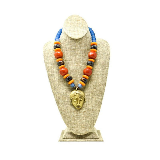 Kamau Mask Necklace with assorted Beads