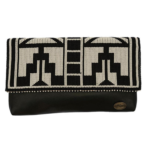 Karungi Beaded Leather Clutch 03