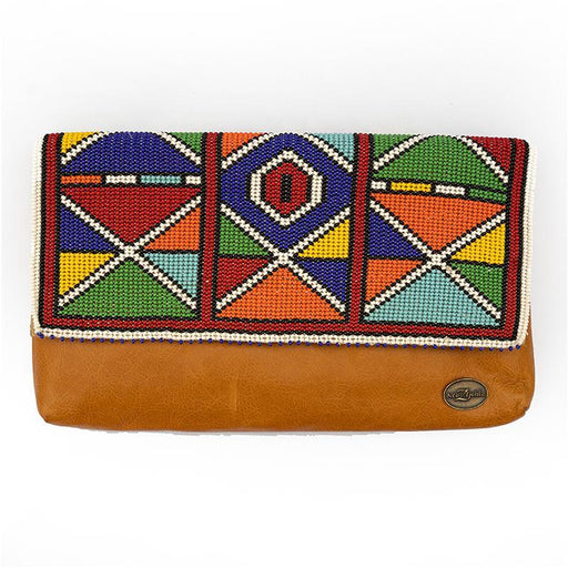 Karungi Beaded Leather Clutch 05