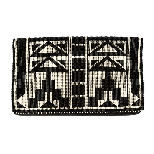 Karungi Beaded Leather Clutch 06