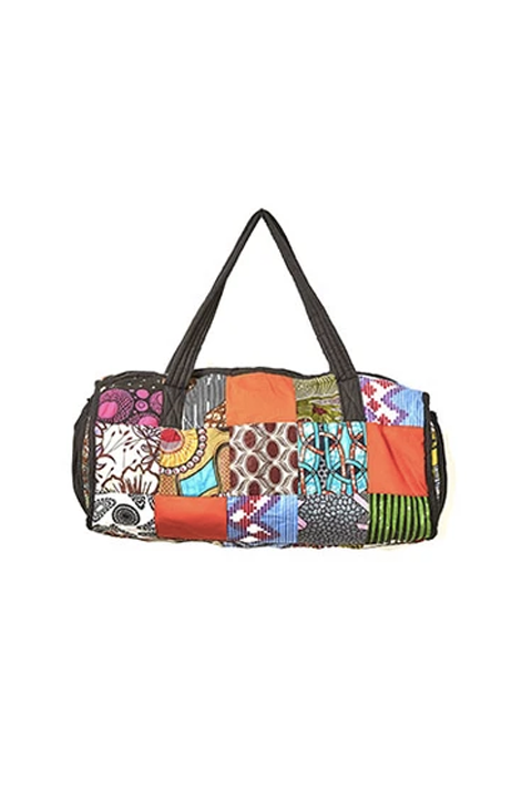 Kitenge Patch Duffle Bag 02