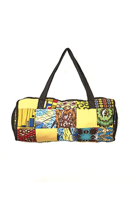 Kitenge Patch Duffle Bag 03