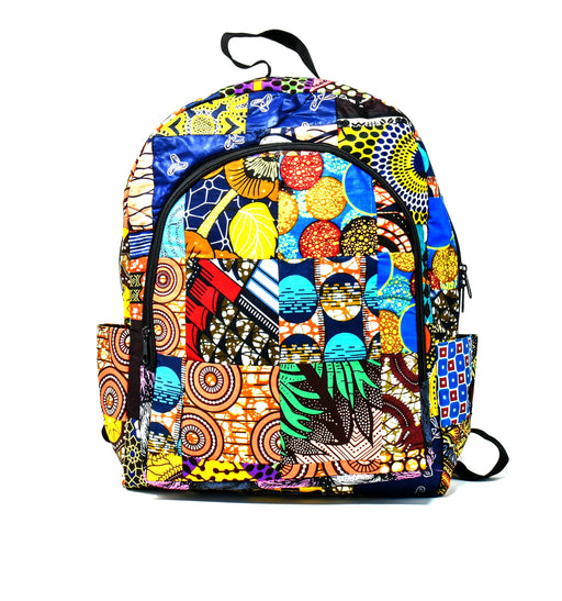 Kitenge Patch Back Pack