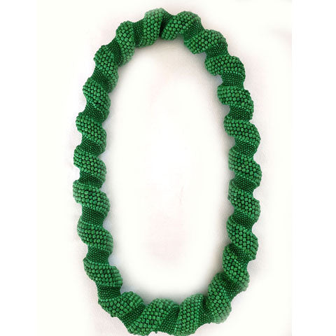 Oije Chunky Beaded Unisex Necklace - Green