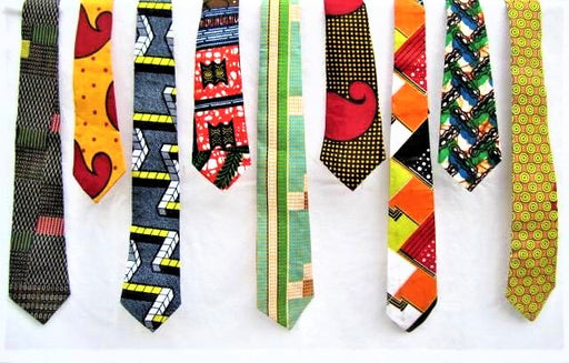 African Kanga Neckties - Assorted