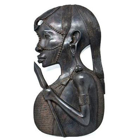 Maasai Warrior Male Plaque