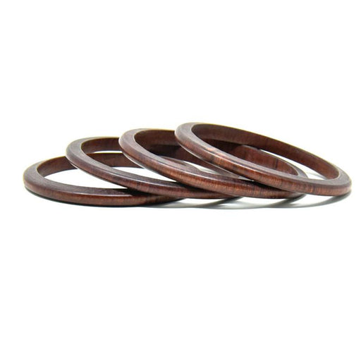Mahogany Thin Bangles - Set of 4