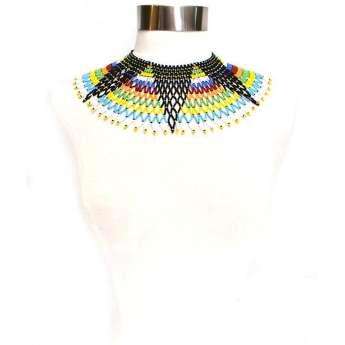 Malikia Short Beaded Bib Necklace 01