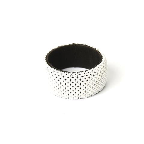 Moyo Beaded Bangle White