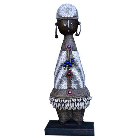 Beaded Namji Doll 87 White
