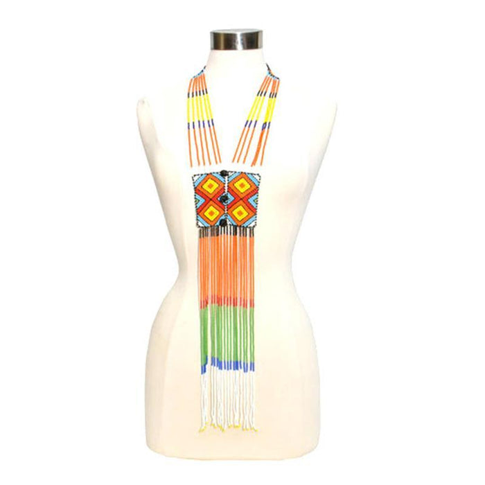Ndebele Long Tie Necklace 08