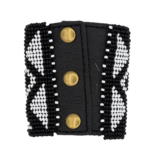 Niwe Beaded Leather Cuff 01