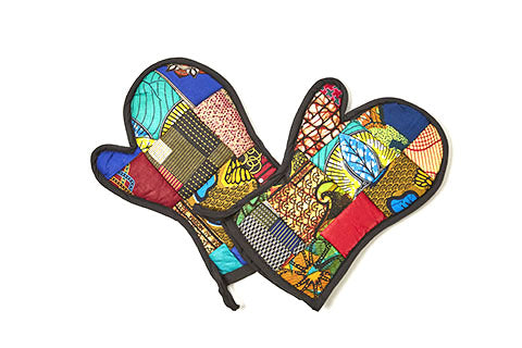 Oven Mitts Kitenge Patch