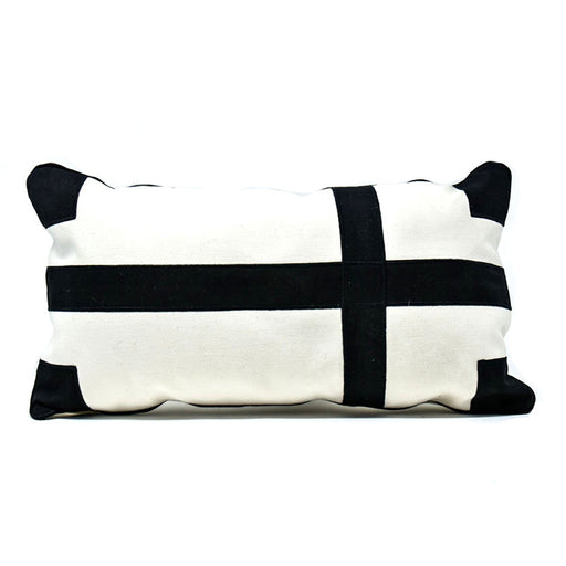 Patch Black and White Pillow Cover 01