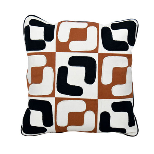 Patch Multi color Pillow Cover 03