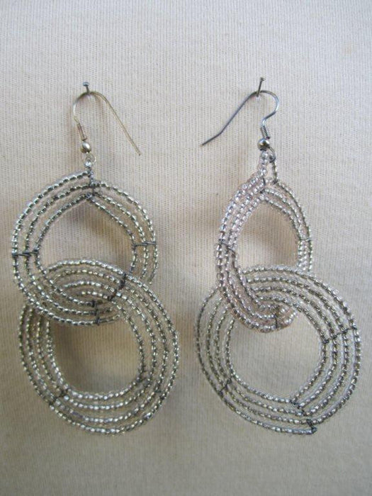 Round Two Tier Earrings Silver