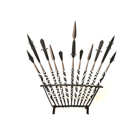 Tutsi Beaded Spears on Rack - Set of 11