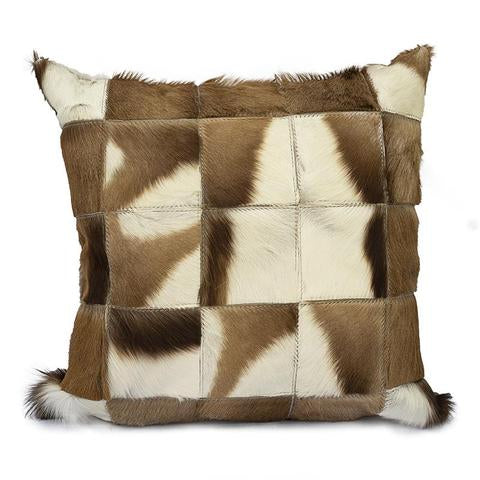 Springbok Patch Hide Pillow