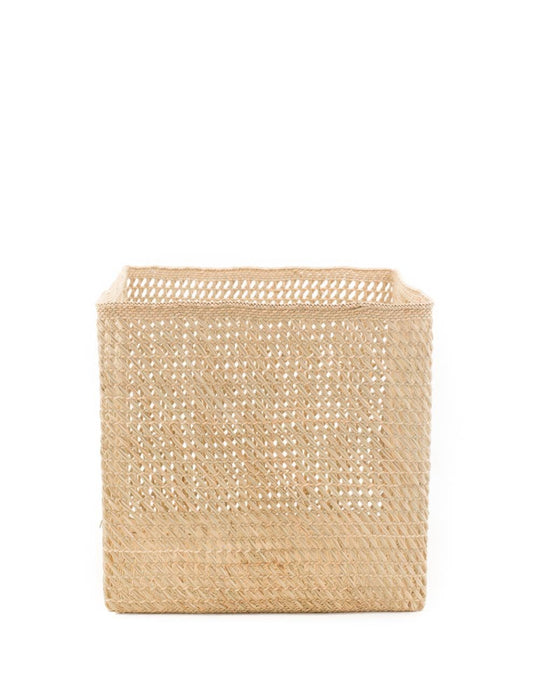 Iringa Baskets Square Open Weave - Natural