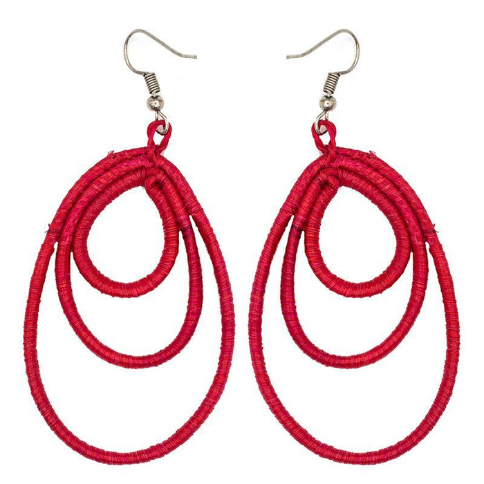 Tiered Tear Drop Earrings 07
