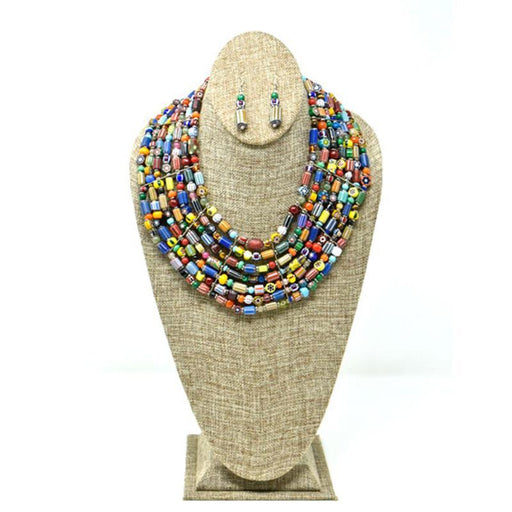 Trade Beads Necklace Seven Strand Set