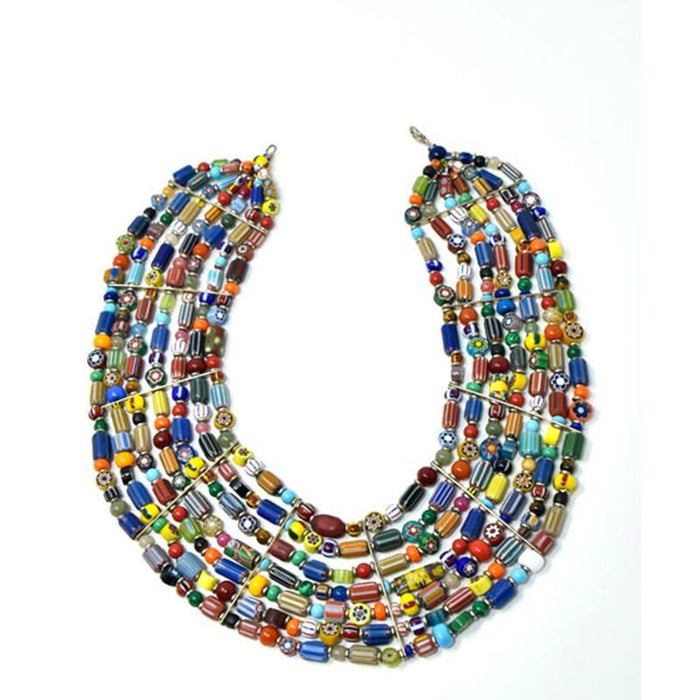 Trade Beads Necklace Seven Strand