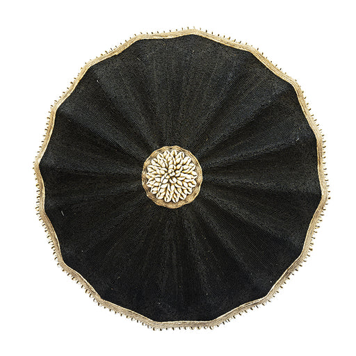 Beaded Cameroon Umbrella Shield - Black