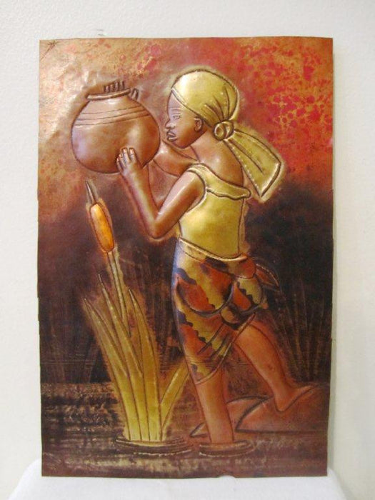 Working Woman Copper Wall Art 2