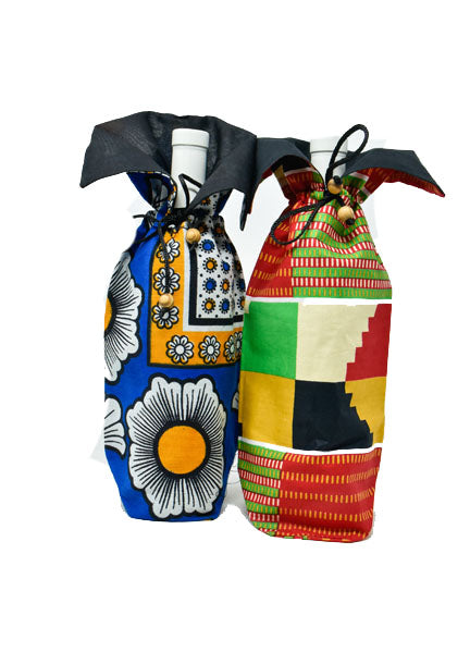 Wine Holder Kitenge 01