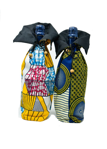 Wine Holder Kitenge 02