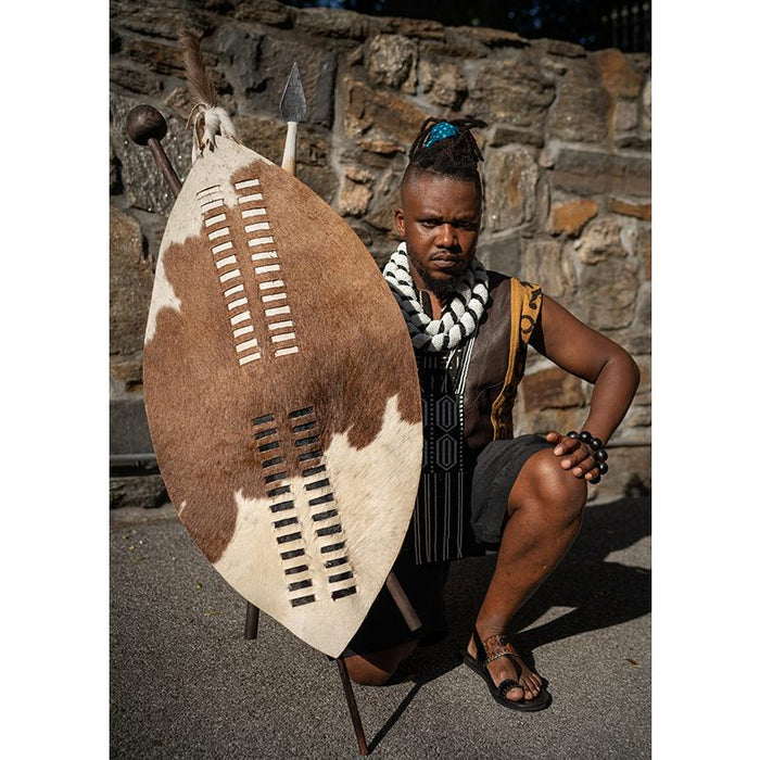 Zulu Shield XL  with Spear and Club