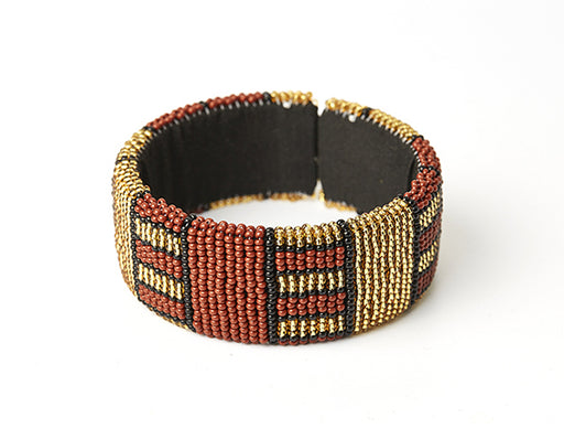 Zulu Beaded Cuff Bangle 10
