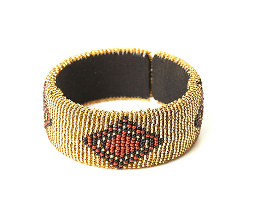 Zulu Beaded Cuff Bangle 11
