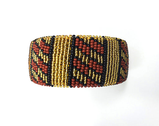 Zulu Beaded Cuff Bangle 16