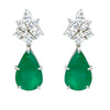 Glorious Green Drop Danglers with Swarovski Zirconia