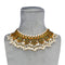 Mishka 24k Gold Plated Silver Necklace With Pearls