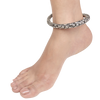Fab Floral Silver Kada Anklets