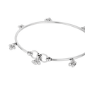 Prisha Ghungroo Sterling Silver Kada Anklets
