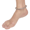 Valencia Sterling Silver Chain Design Kada Anklets
